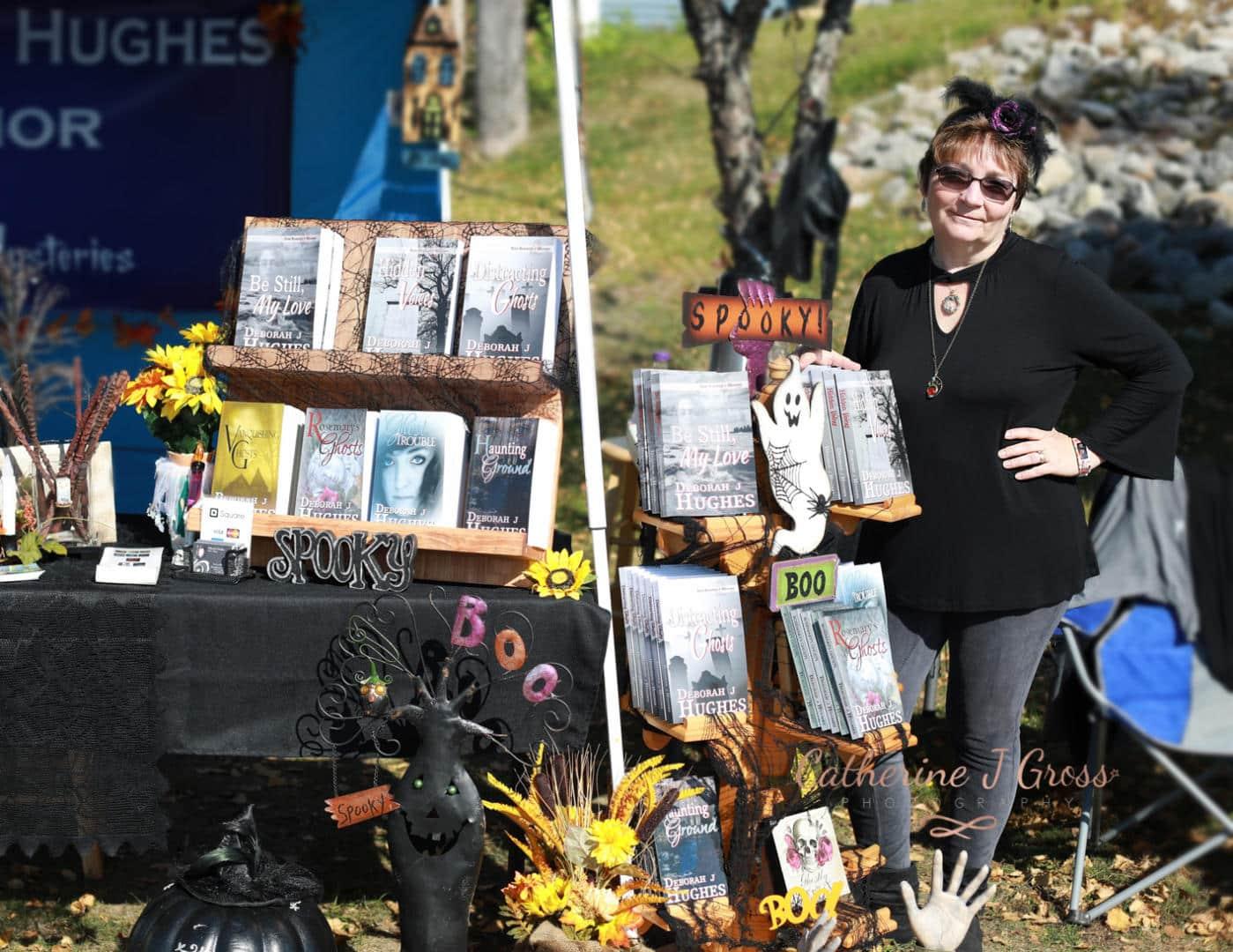 Author Deborah J. Hughes at Ghostport, Bucksport, Maine